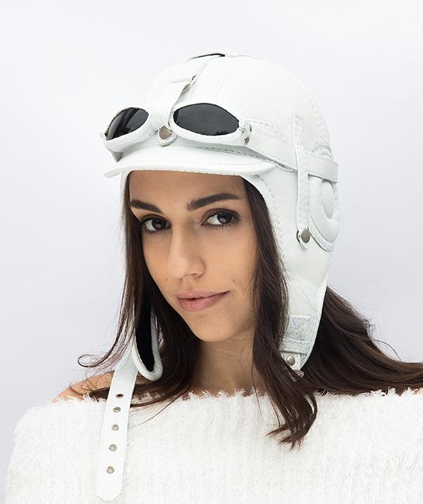 кепка летчика белаяя