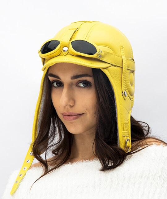 кепка летчика желтая