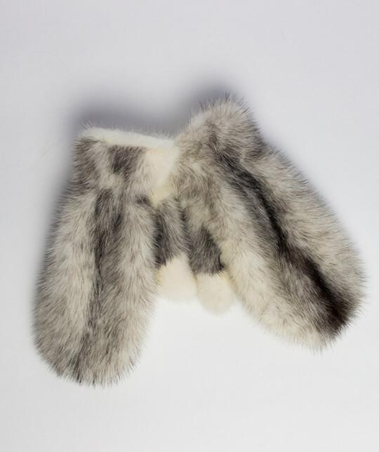 Варежки Джули-чернобелый-норк