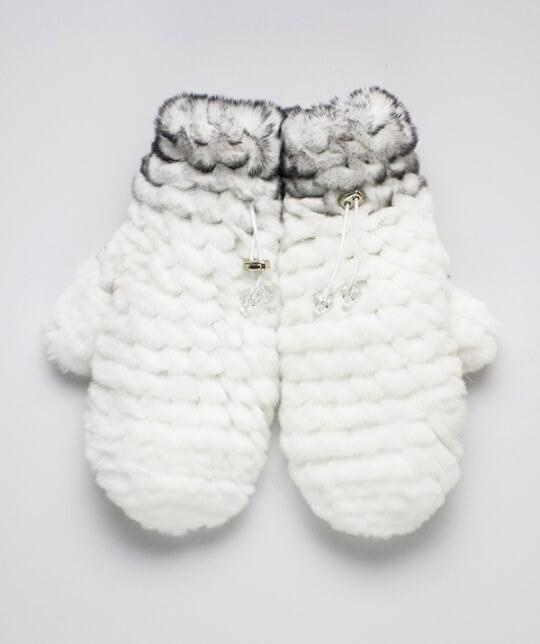 Варежки Nuvolla-белые