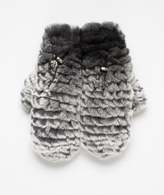 Варежки Nuvolla черно-серые