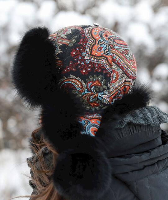 Шапка-ушанка Зимушка