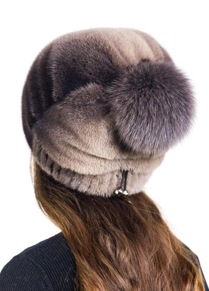 шапка Баярма корич бок