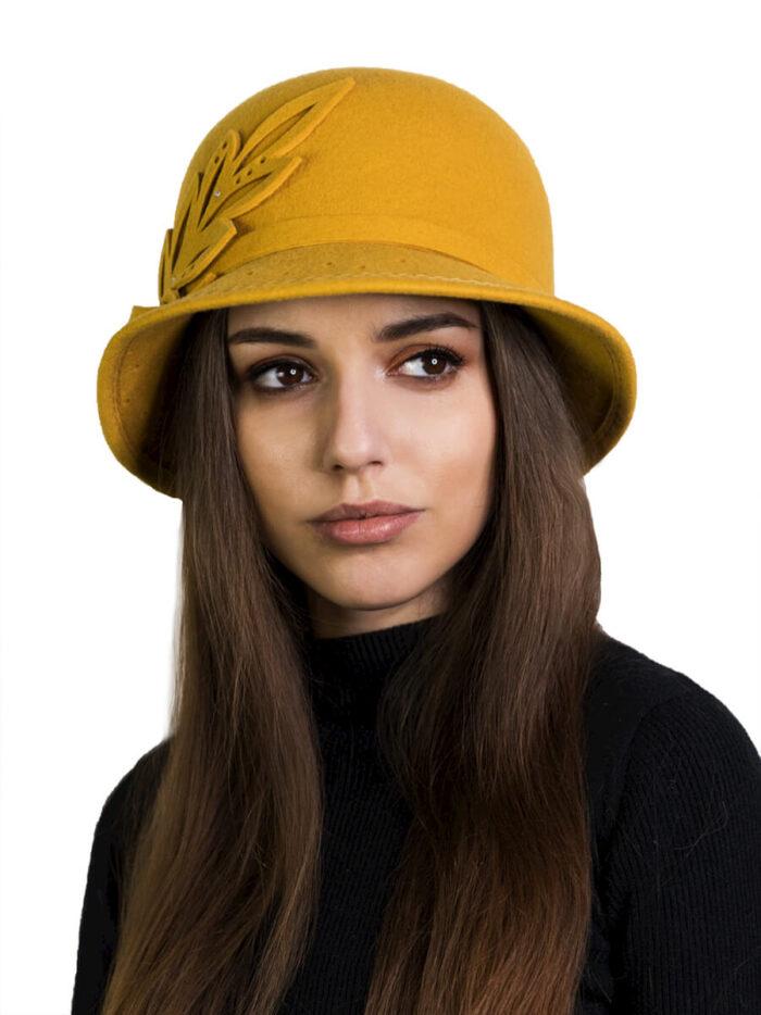 Желтая шляпа BITFUR DESIGN