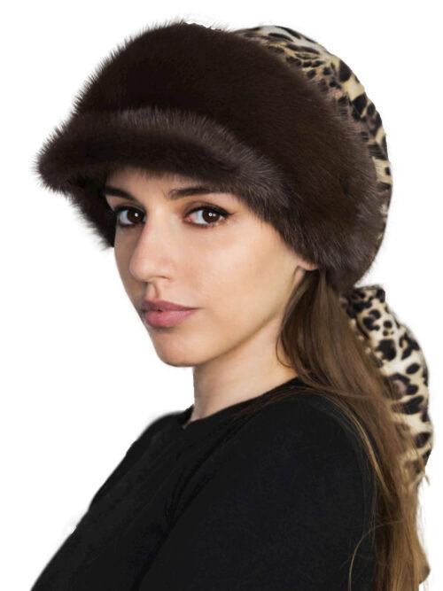 шапка азалия корич